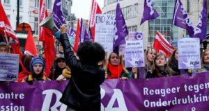 België: grote demonstratie tegen geweld op vrouwen