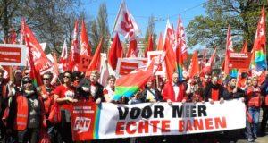 1 Mei 2016 in Amsterdam: loonoffensief en mobilisatie tegen verslechteringen nodig!