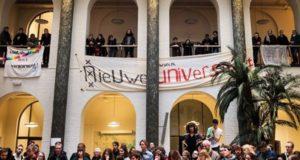 Studentenprotest in Nederland voor democratische hervormingen