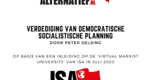 Verdediging van democratische socialistische planning