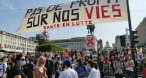 België: Zorgpersoneel demonstreert