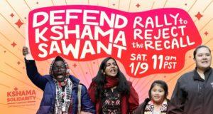 Actie tegen rechtse terugroeppoging socialistisch gemeenteraadslid Seattle Kshama Sawant