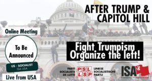 Meeting met Amerikaanse socialist op donderdag 21 januari
