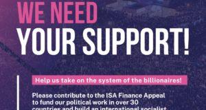 Onze strijd is internationaal! Steun ISA financieel